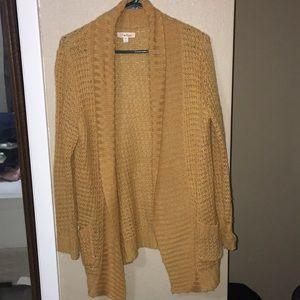 Sweaters - Mustard cardigan